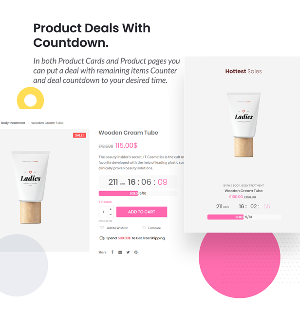 Pinkmart - WooCommerce WordPress Theme - count deal