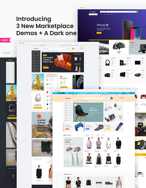 Pinkmart - WooCommerce WordPress Theme - marketplace demos