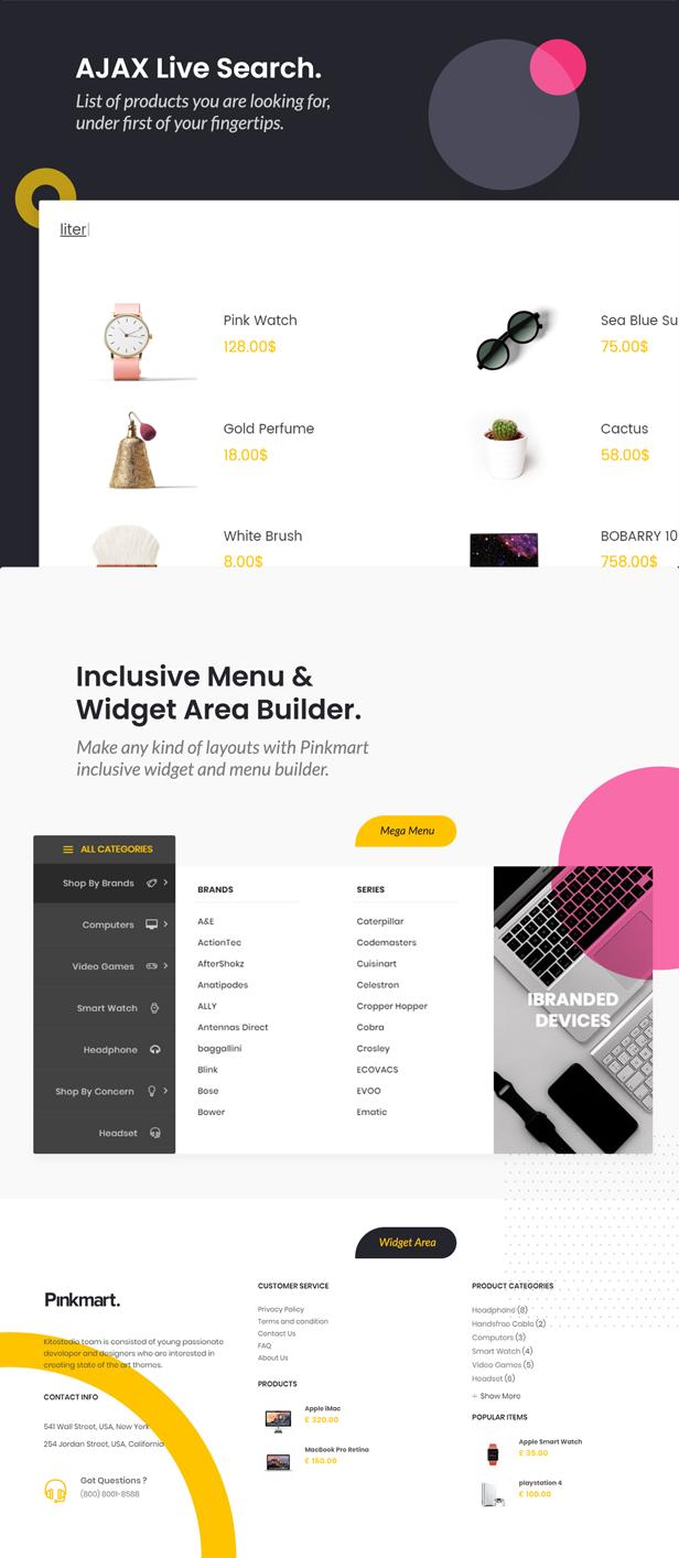 Pinkmart - WooCommerce WordPress Theme - instant search