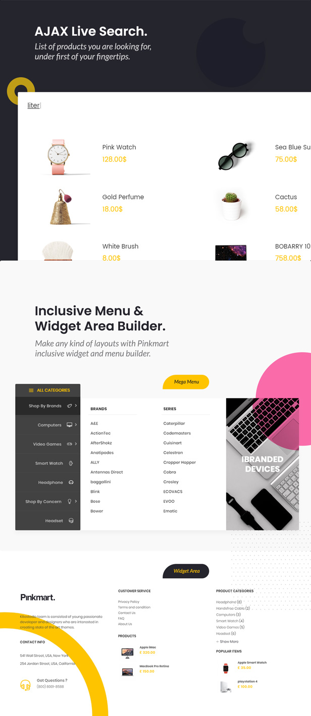 Pinkmart - WooCommerce WordPress Theme - instant search