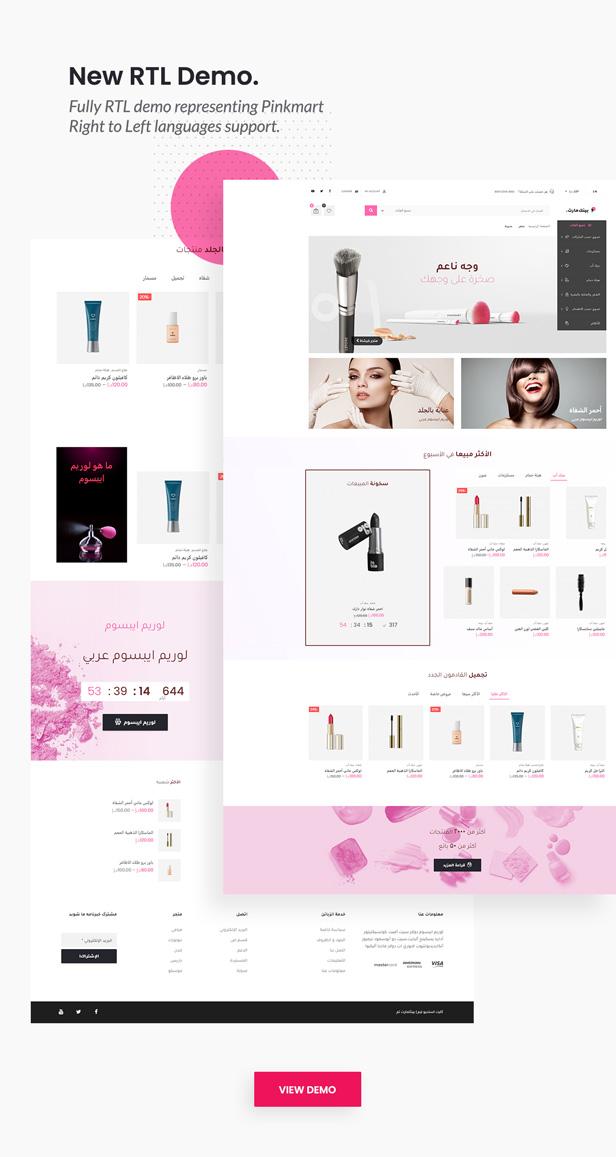 Pinkmart - WooCommerce WordPress Theme - RTL