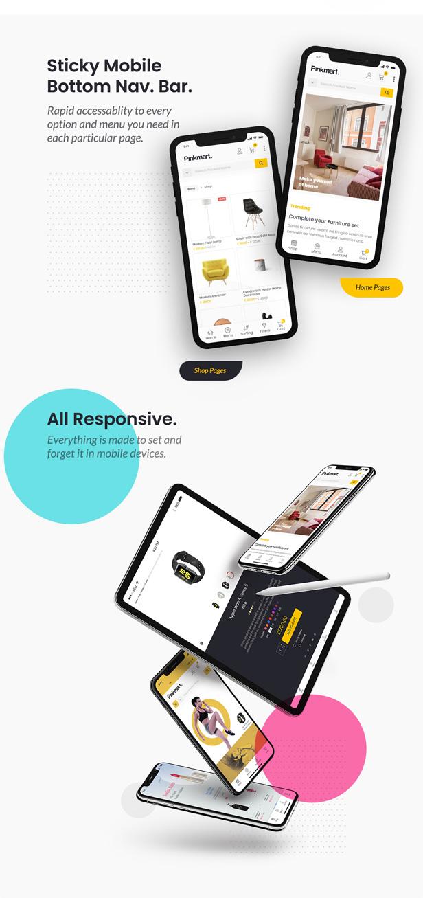 Pinkmart - WooCommerce WordPress Theme - Sticky Nav bar