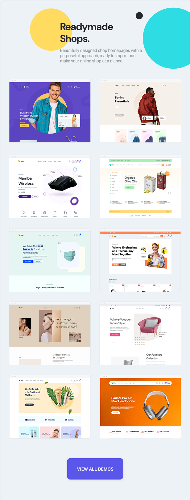 teta - WooCommerce WordPress Theme - demos