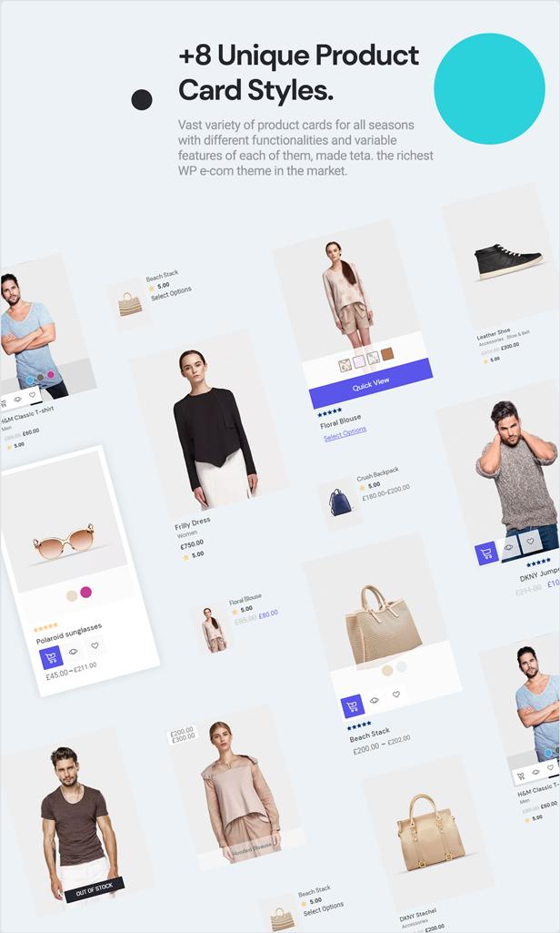 teta - WooCommerce WordPress Theme - Product cards