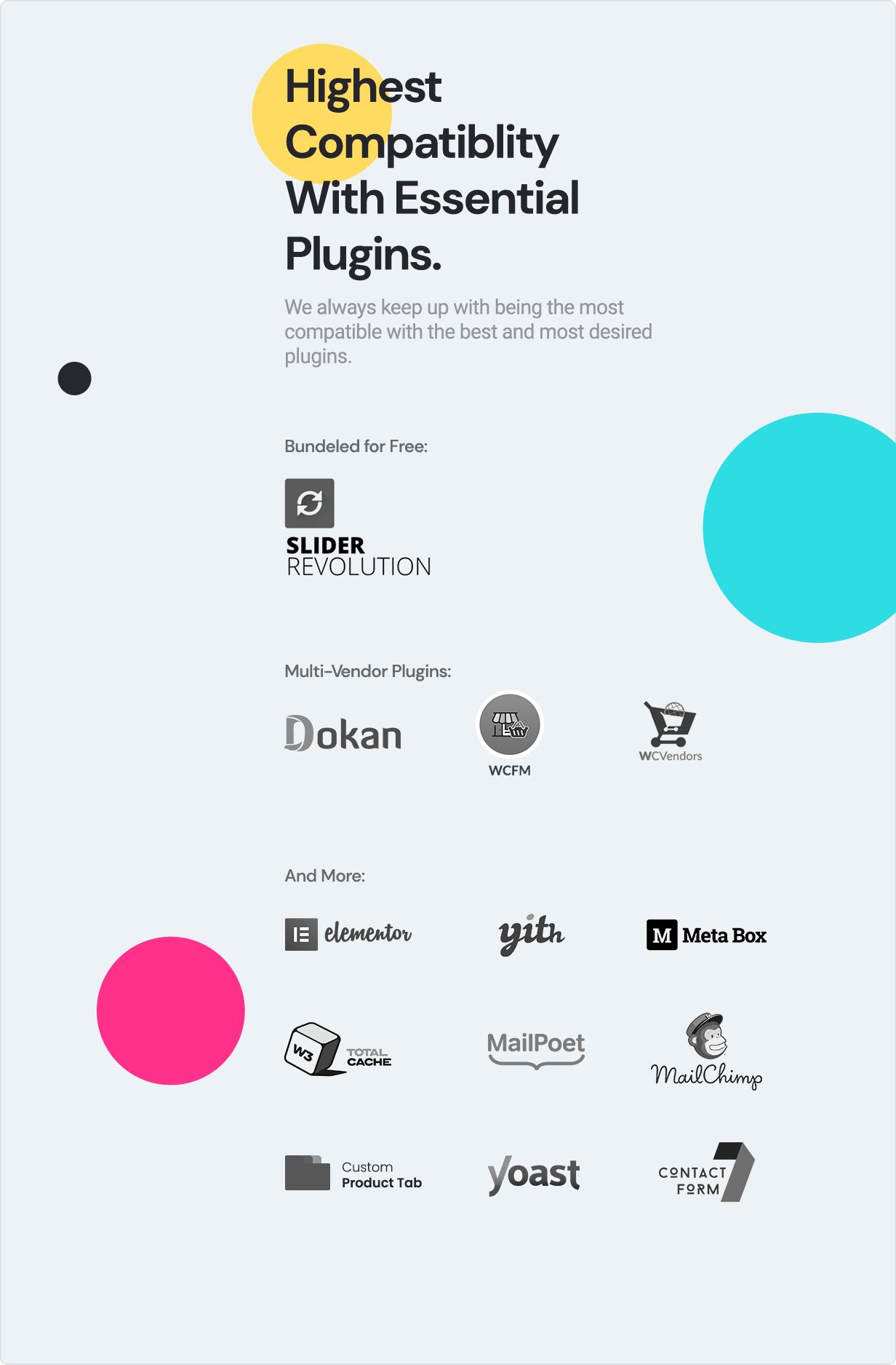 teta - WooCommerce WordPress Theme - Compatibility Plugins