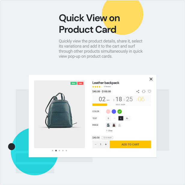 teta - WooCommerce WordPress Theme - Qucik view on product cards