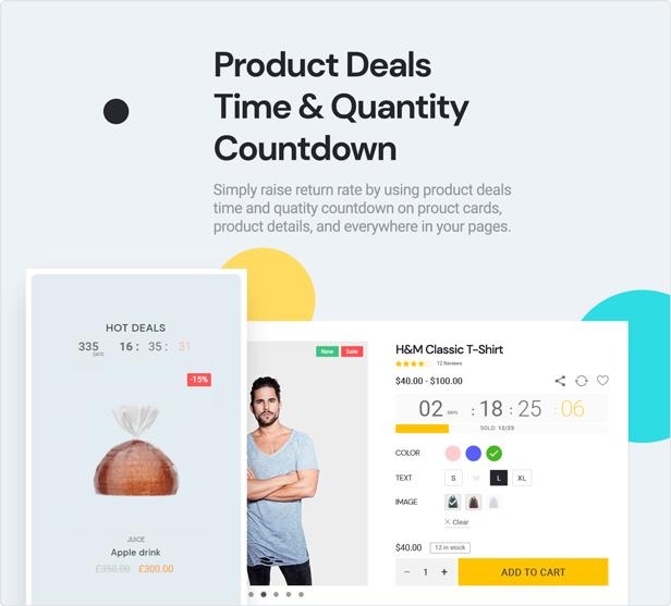 teta - WooCommerce WordPress Theme -Product deals and Quantity Count Down