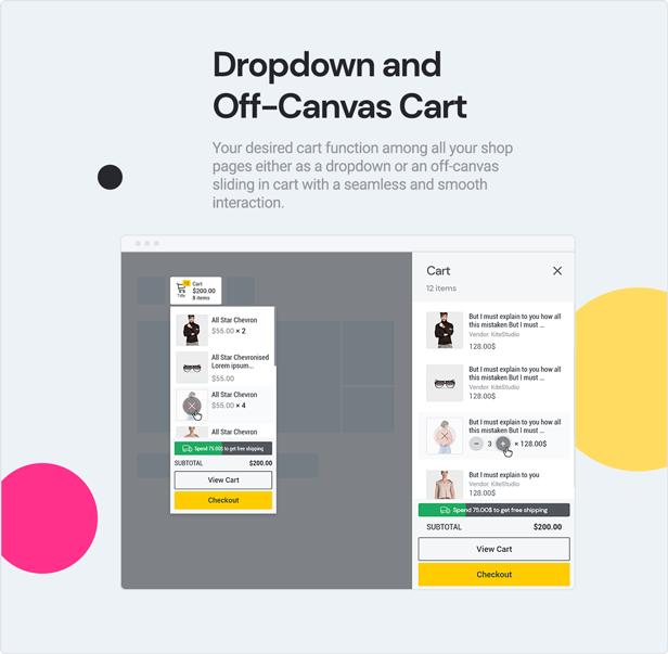 teta - WooCommerce WordPress Theme - Of Canvas and Drop down add to card